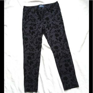Old Navy Velvet Floral Pixie Pants